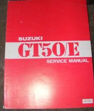 SUZUKI GT50E SERVICE MANUAL  1979