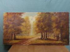 Gemälde Landschaft Antik Stil Öl auf Leinwand Bäume Wald Bild Keilrahmen o15a4
