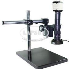 2MP VGA USB TV AV Lab Industry Microscope Camera 180X C-mount Lens Metal Stand