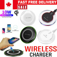 Luxury Qi Fast Wireless Charger Charging Pad For Samsung Galaxy S10 Plus S9 S8 7