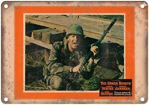 "John Wayne The Green Berets Lobby Card 10"" X 7"" Reproduction Metal Sign I111"
