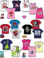 Boys Girls Kids Disney Marvel Character T-shirt Top age 3-12 years SALE!