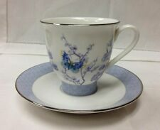 "ROYAL WORCESTER ""KIMONO"" TEACUP & SAUCER BONE CHINA NEW MADE IN ENGLAND"