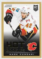 13/14 Score Gold Hot Rookies Mark Cundari 728 Flames