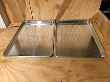 2 pcs half size  Chrome Plated Perforated Sheet Pan