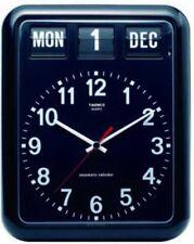 TWEMCO BQ-12A Wall Clock Split Flap Calendar Function Black Fast Ship Japan EMS
