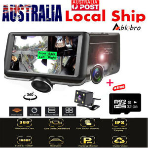 "360° Car DVR 4.5"" Dash Cam Vehicle Black BOX 1080P Dual Lens Video Recorde +32GB"