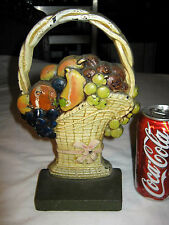 Antique Art Deco C.J.O. Judd Mfg. Co. Lg. Fruit Basket Cast Iron Door Doorstop