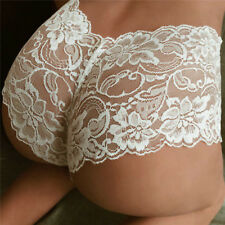 Women Lace Sexy Lingerie Floral Brief Panties Thong High Waist Knicker Underwear