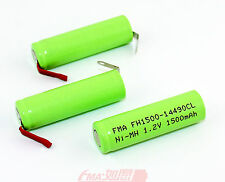 3x Ni-MH Battery AA 1.2V 1500mAh to Epilator AP-17SR GP130AAM Razor Shaver 14x49