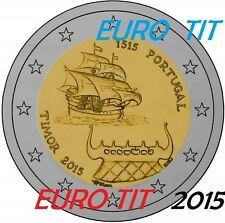 2  EURO   PORTUGAL     1  PIECE   X     NEUVE    TIMOR    2015    disponible