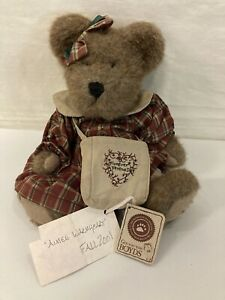 "Boyds Bears Teddy Plush AIMEE WARMHEART Fall 2001 #917371 Forever Friends 10"""
