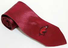 "Merge Left Men's Tie Arkansas Razorbacks 100% Silk Red NWT 56"" x 3.5"""