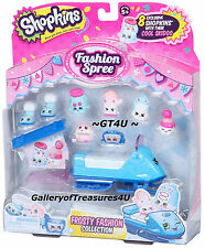 8 Shopkins Season 5 Fashion Pack Frosty Fashion Collection Skidoo Snow Board