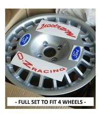 FORD MOTORSPORT, OZ RACING, COMPOMOTIVE ALLOY WHEEL, DECAL SET STICKERS COSWORTH