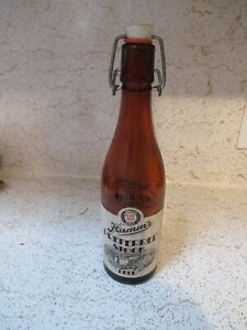 Hamm's Preferred stock beer bottle etched and paper label