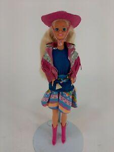 Vintage 1990 Western Fun Barbie Doll Cowboy Cowgirl #9932
