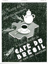 Publicité Ancienne café du Brésil lle café des amateurs 1936 issue de magazine