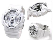 GA-120A-7A White Casio Men's Watch G-Shock Analog Digital 200M-WR Resin Band