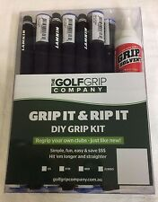 "**NEW** 9 x Lamkin UTx Black MIDSIZE Grips + ""Grip it & Rip It"" Kit"