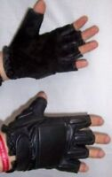 GUANTI MEZZODITO IN PELLE TAGLIA XL PER MOTO LEATHER GLOVES ALTA RESISTENZA