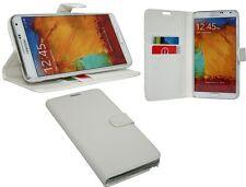 Samsung Galaxy Note 3 // Book Style Hülle Etui Handytasche Schale in Weiß