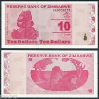 ZIMBABWE 10 dollars dolares 2009  Pick 94   SC / UNC