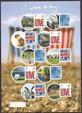 GREAT BRITAIN Royal Mail 2008 I WROTE TO SAY... SMILERS HALF SHEET of 10