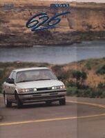 1989 Mazda 626 Deluxe Canada Sales Brochure Book
