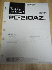 Pioneer Service Manual~PL-210AZ Turntable~Original~Repair
