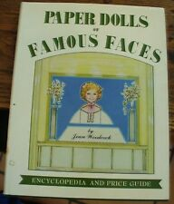 Paper Dolls of Famous Faces Encyclopedia Price Guide Woodcock 1980 Illustrated