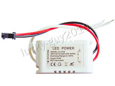3x3W Dimmable LED Light Driver 9W 9Watt Power Supply DC9V~12V IP65 Waterproof
