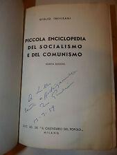 Politica - Trevisani: Piccola Enciclopedia Socialismo Comunismo dedica autografa