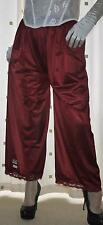 Burgundy vintage style silky nylon pantie slip~pettipant~culottes~bloomers 20~22