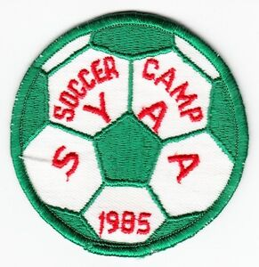 SOCCER CAMP SYAA 1985 - Vintage SPORTS PATCH