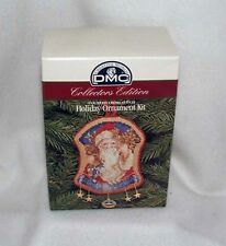 Dmc Counted Cross Stitch Christmas Ornament Kit - Santa New!