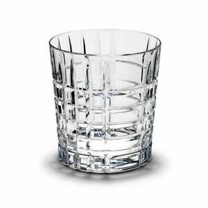 Tiffany & Co Crystal PLAID Double Old Fashioned Glass(s) MINT!!
