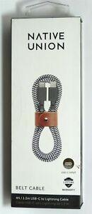Native Union - 4' Lightning-to-USB Type C Cable - Zebra