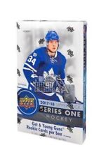 2017-18 UPPER DECK SERIES 1 COMPLETE BASE SET 1-200 PLUS AUSTON MATTHEWS TIN LID