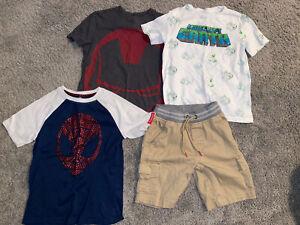 Wonder Nation/Marvel/Crazy 8/Minecraft~Boys 4p Shirts & Shorts Sz 8 Spiderman