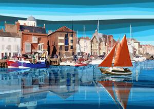 Weymouth 2 Dorset Limited Art Print by Sarah Jane Holt