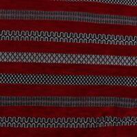 Malina Raised Velvet Chenille Striped Jacquard Woven Upholstery Fabric