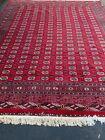 Antique 1940s Turkoman Handmade Wool Rug signed 9.5x12 feet