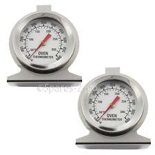 2 x Termómetro Medidor de temperatura de Cocina de horno universal de acero inoxidable análogo