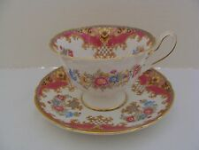 Shelley China Pink Sheraton Cup & Saucer W/ Gold Trim 13289