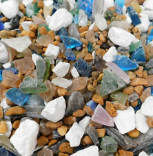 1/4 LB MARBLE ROCK COLOR MIX SEAGLASS BEACH SEA GLASS SEASHELL JEWLERY WEDDINGS