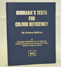 Ishihara Book 38 Plates Edition - for Ophthalmology use-FREE SHIPPING