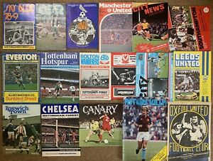 NOTTINGHAM FOREST FC 1978 1979 AWAY FOOTBALL PROGRAMME COLLECTION Bundle JOB LOT