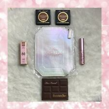 TOO FACED MAKEUP LOT OF 6 MINI ~ MAKEUP BAG~ EYESHADOW PALETTE MASCARA AND MORE