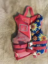 Body Glove Girls Pink/blue Life Vest/Jacket 30-50 Lb